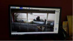 CCTV on computer screen
